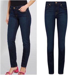 7FAM Dark Wash Roxanne Skinny Straight Leg Jeans